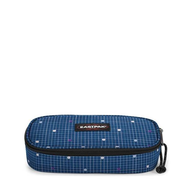 EASTPAK  ASTUCCIO OVAL SINGLE - LITTLE GRID/BLU  POIS -  EK717-88X
