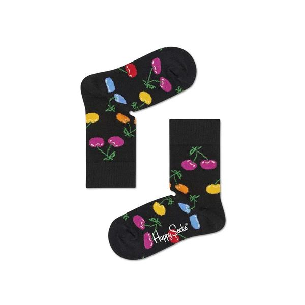 HAPPY SOCKS CALZINI CHERRY KIDS - NERO CILIEGIE - 87419M104K-9001