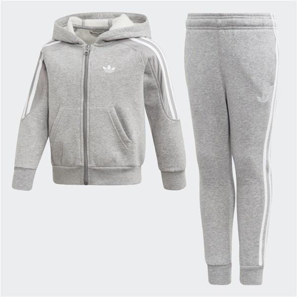 ADIDAS COMPLETO OUTLINE HOODIE - GRIGIO/BIANCO - ED7762