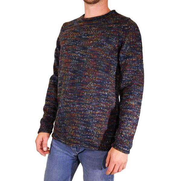 RVLT HEAVY KNITTED SWEATER - BLU MLTC - 6516