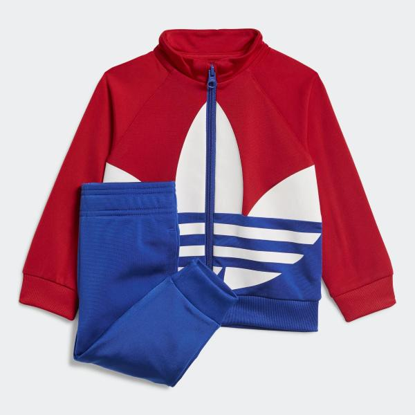 ADIDAS COMPLETINO TRACK SUIT TREFOIL - ROSSO/BIANCO/BLU - GE1970