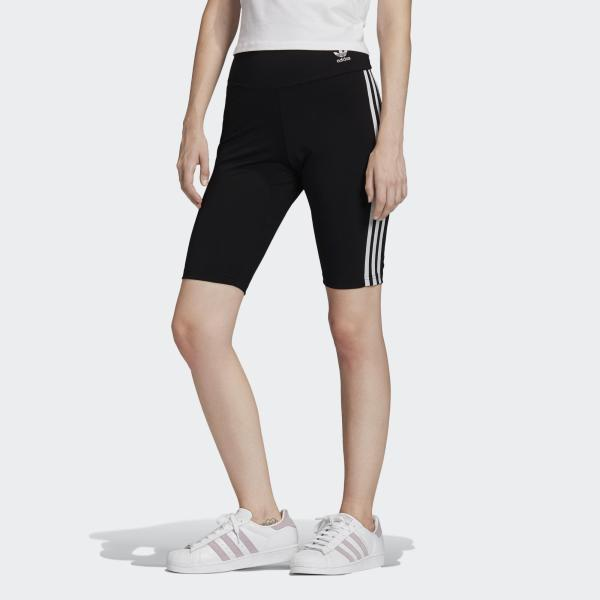 ADIDAS SHORT 3S TIGHTS -  NERO/BIANCO -  FM2574