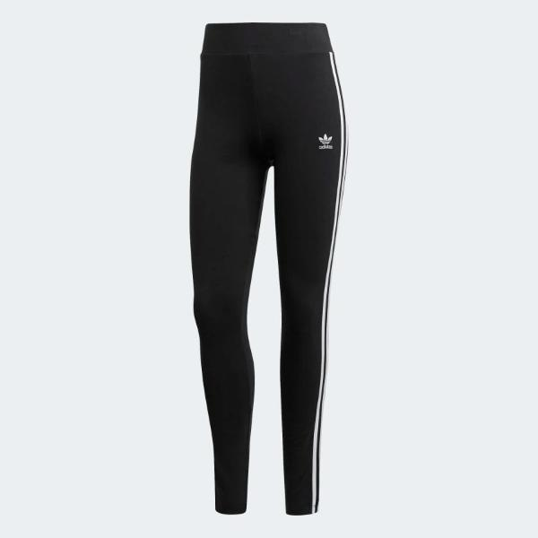 ADIDAS  LEGGINGS 3STRIPES VITA ALTA - NERO - FM3287