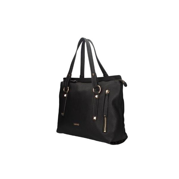 LIU JO SHOPPER CON ZIP - NERO  - NF0050E0161-22222