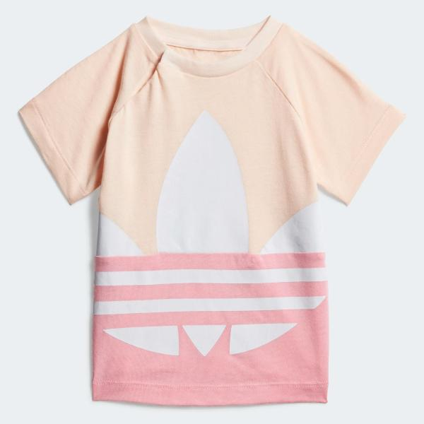 ADIDAS T-SHIRT BIG TREFOIL - ROSA/BIANCO - GD2633