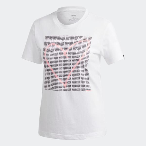 ADIDAS T-SHIRT ADI HEART - BIANCO - GD4996