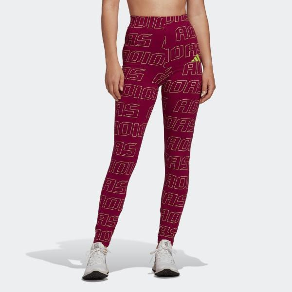 ADIDAS LEGGINGS TIGHT GRAPHIC - VIOLA/BLU - FS2463