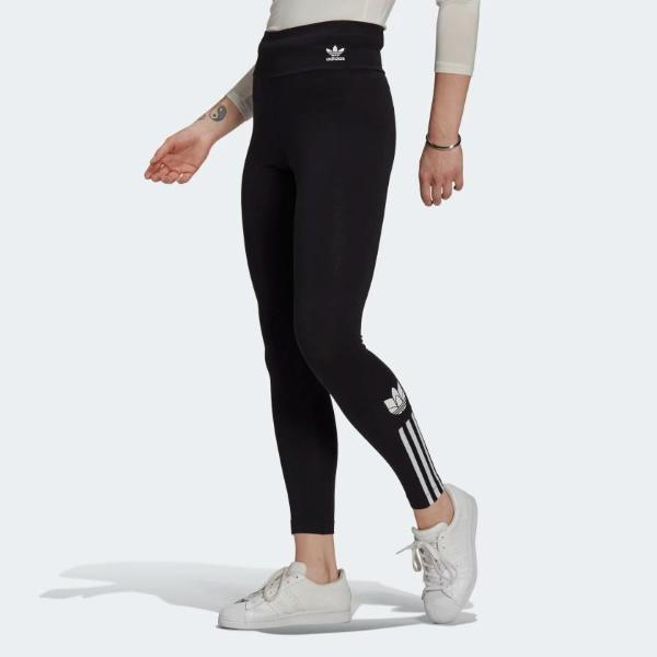 ADIDAS LEGGINGS ADICOLOR TREFOIL- NERO- GT8461