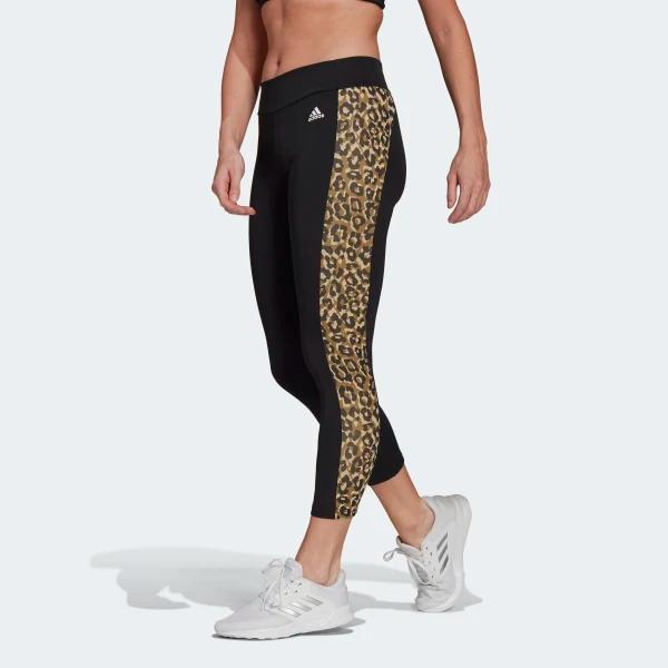 ADIDAS LEGGINGS LEO - NERO LEOPARDATO - GL3960