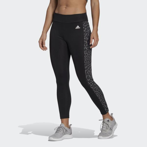 ADIDAS LEGGINGS LEO - NERO LEOPARDATO - GL4046