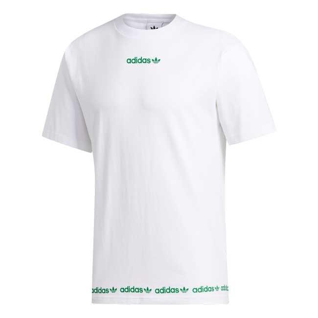Adidas T Shirt Linear Bianco Verde Gd2113 Ebay