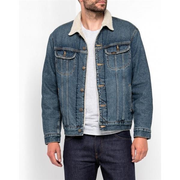 Giacca L87ardjk Lee Rider Worn Giano Vintage Jeans Sherpa wvOym80Nn