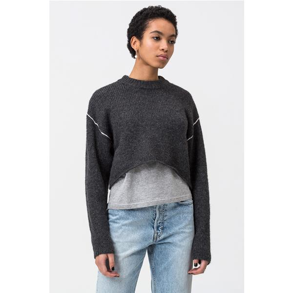 CHEAP MONDAY MAGLIONE USER - NERO MELANGE - 0582375