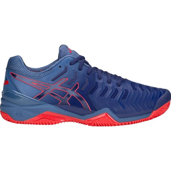 ASICS GEL RESOLUTION 7 CLAY - BLU/ROSSO - E702Y-400