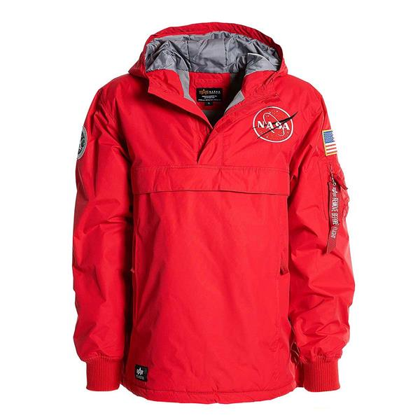 ALPHA INDUSTRIES GIACCA NASA ANORAK - ROSSO - 188133-328