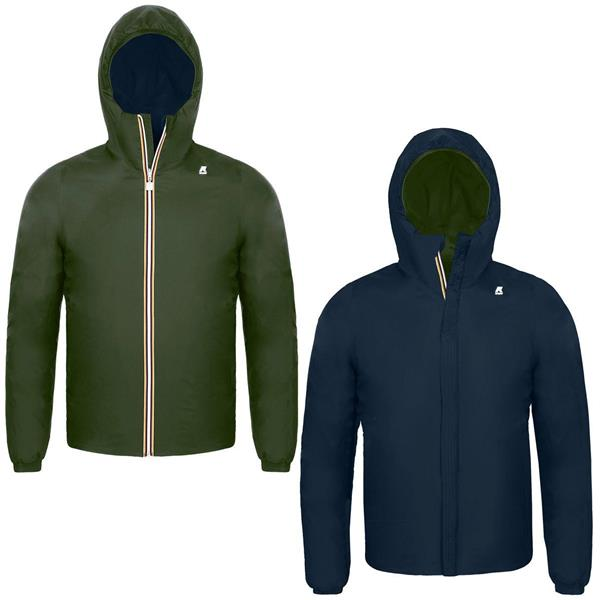 KWAY GIACCA JACQUES WARM DOUBLE JNR - BLU/VERDE - K008JQ0K-939