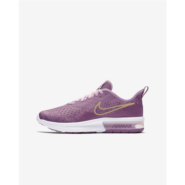 NIKE AIR MAX SEQUENT 4  GS -  MALVA/ROSA -  AQ2245-501