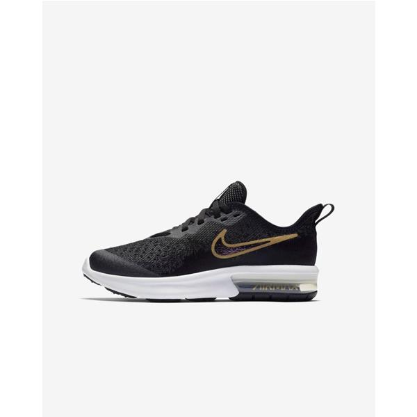 NIKE AIR MAX SEQUENT 4  SH GS - NERO/ORO - AV4476-001