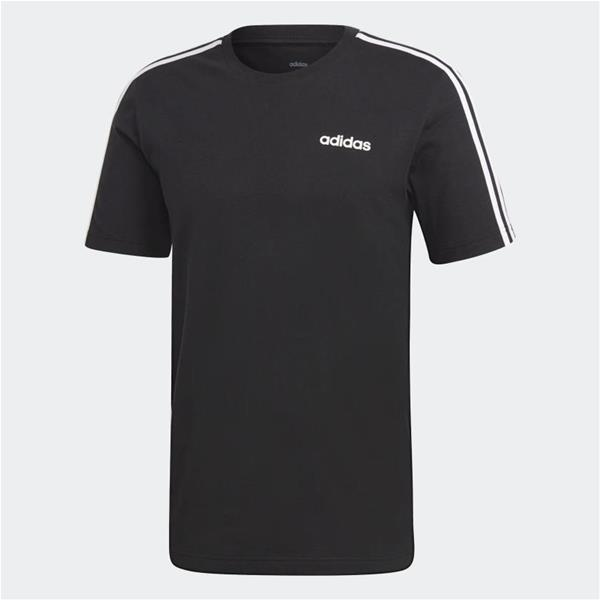 ADIDAS T SHIRT ESSENTIALS 3 STRISCE - NERO - DQ3113
