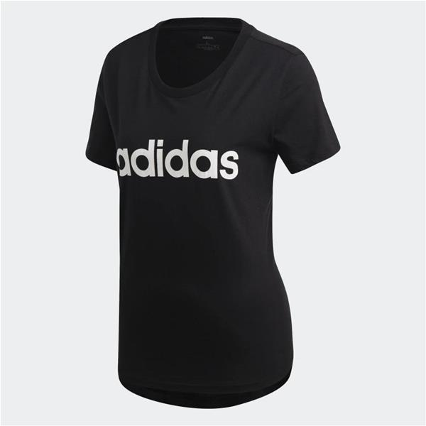 ADIDAS T-SHIRT ESSENTIALS LINEAR - NERO - DP2361