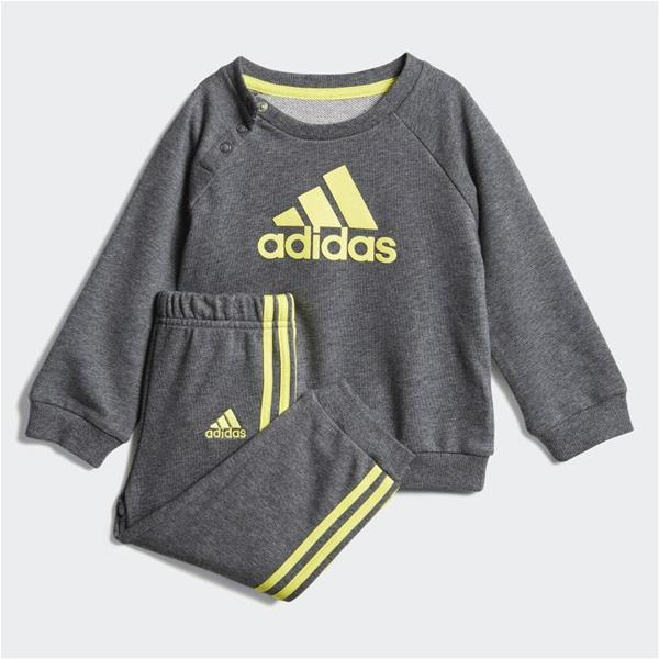 ADIDAS TUTA FRENCH TERRY - ANTRACITE/GIALLO - DV1283