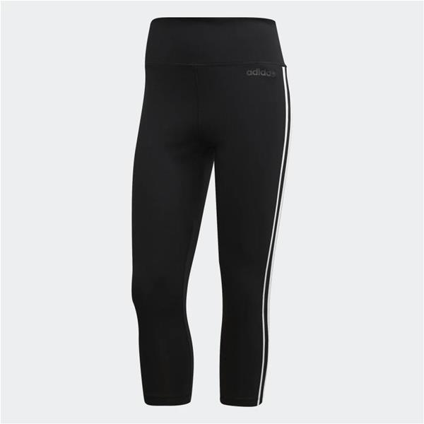 ADIDAS LEGGINGS 3/4 DESIGN 2 MOVE 3-STRIPES - NERO - DU2043