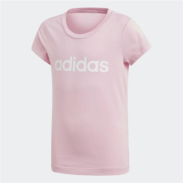 ADIDAS T-SHIRT ESSENTIALS LINEAR - ROSA/BIANCO - DV0363