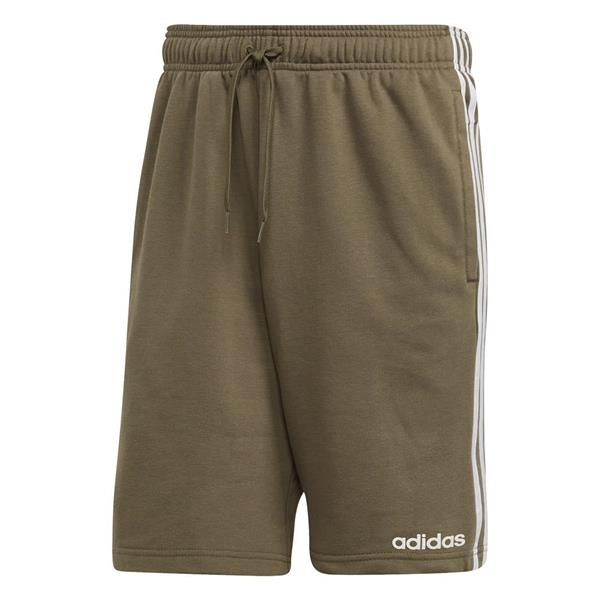 ADIDAS SHORT ESSENTIALS 3-STRIPES FT - VERDE MILITARE - DU7833