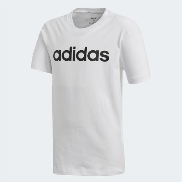 ADIDAS T-SHIRT ESSENTIALS LINEAR - BIANCO/NERO - DV1810