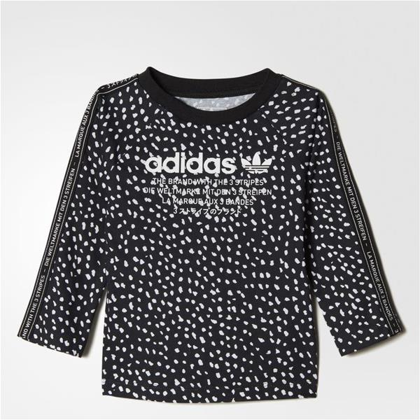 ADIDAS T-SHIRT NMD LS  INFANT GIRL - NERO/BIANCO - BQ4303