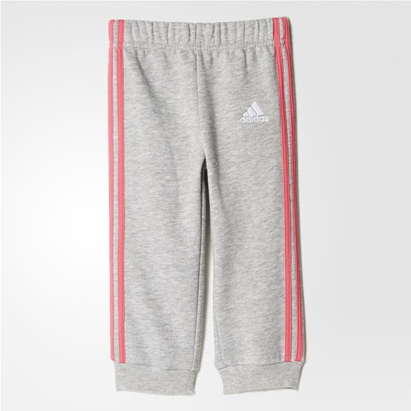 ADIDAS PANTALONE FAN INFANT GIRL -  GRIGIO MLG/ROSA - CE9811