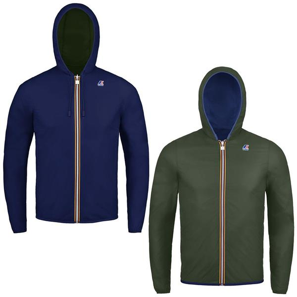 KWAY GIACCA JACQUES PLUS DOUBLE JNR - BLU/VERDE - K002XP0B-A38