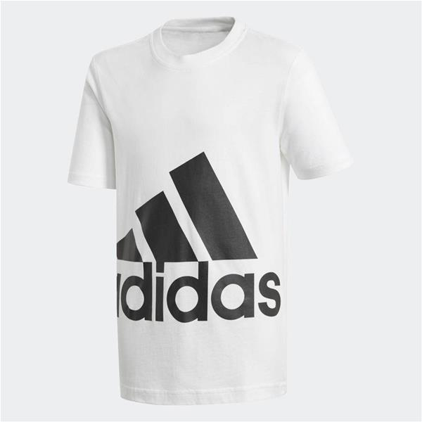 ADIDAS T-SHIRT BIG LOGO JUNIOR - BIANCO/NERO - BP8757