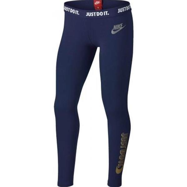 NIKE LEGGINGS JDI GIRL - BLU/ORO - 940413-429